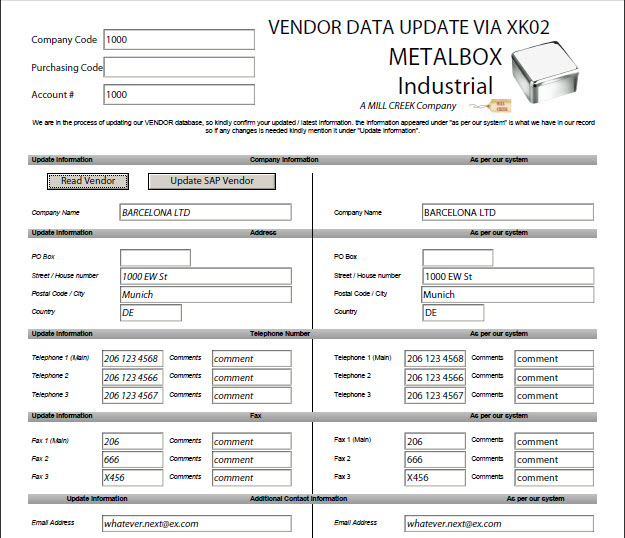 Create Easy to Use Forms for Vendor Creation & Maintenance